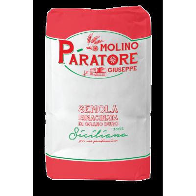 """Sacco da 25 Kg semola rimacinata di grano duro siciliano """"soffice"""" Molino Paratore"""