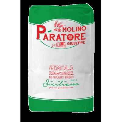 """Sacco da 25 Kg semola rimacinata di grano duro siciliano """"verde"""" Molino Paratore"""
