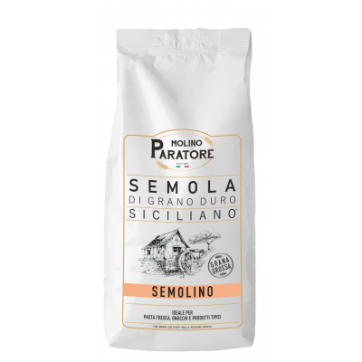 """Sacco da 1 Kg semola di grano duro siciliano per pasta """"semolino"""" Molino Paratore"""