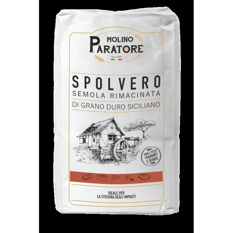 """Sacco da 5-25 farina di grano duro per """"spolvero pizzeria"""" Molino Paratore"""