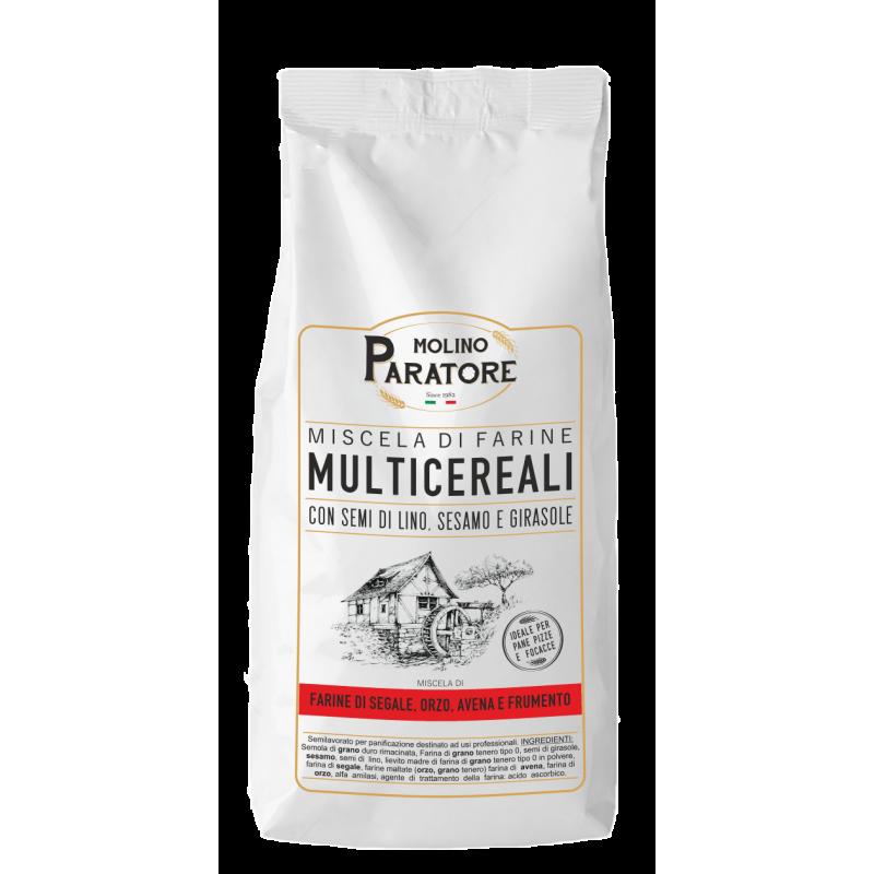 """Sacco da 1 Kg farina """"multicereali"""" mix farine Molino Paratore"""