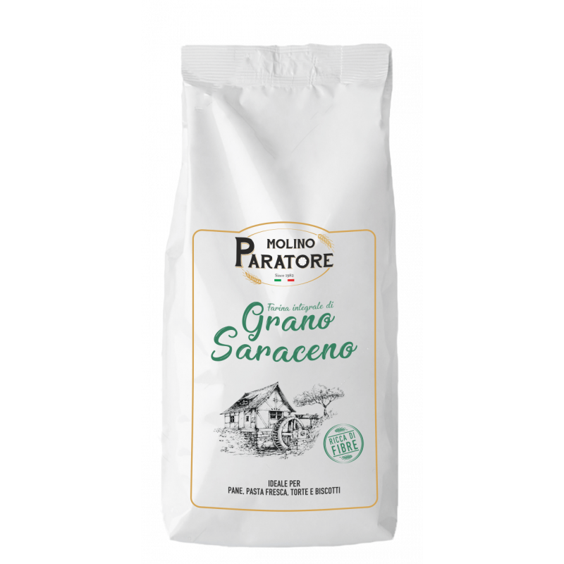 """Sacco da 1 Kg farina di """"grano saraceno"""" integrale Molino Paratore"""