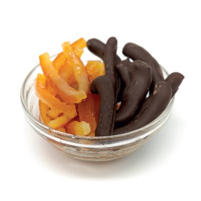 Scorze di arancio ricoperte di cioccolato Romeo Canditori